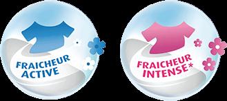 Fraicheur Active et Fraicheur Intense